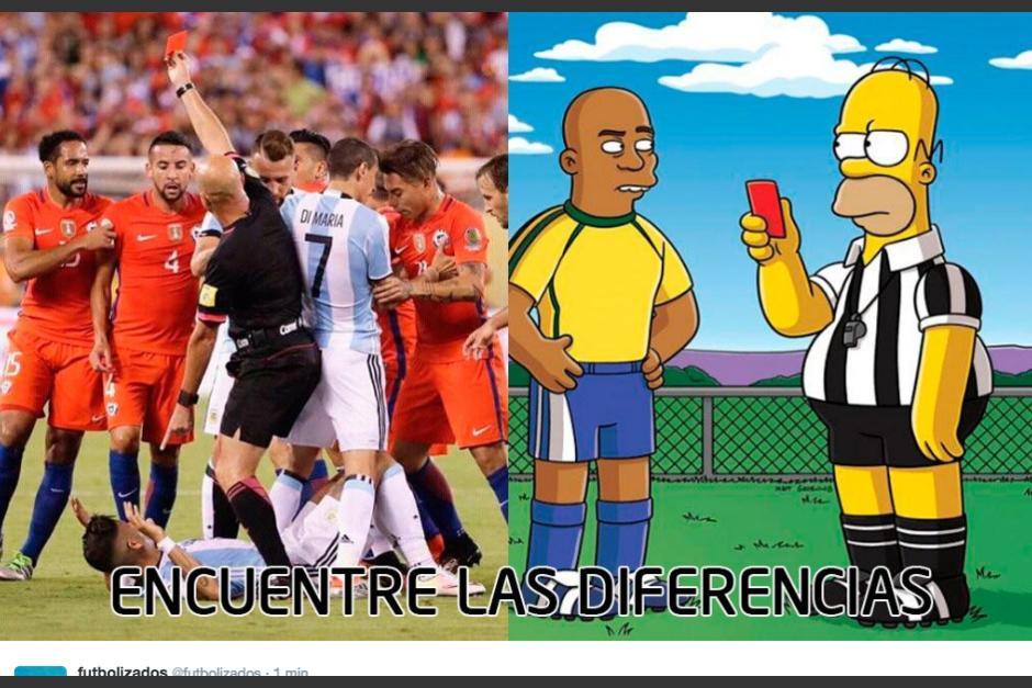 La serie de los Simpsons fue motivo de memes contra el árbitro. (Foto: Twitter/@futbolizados)