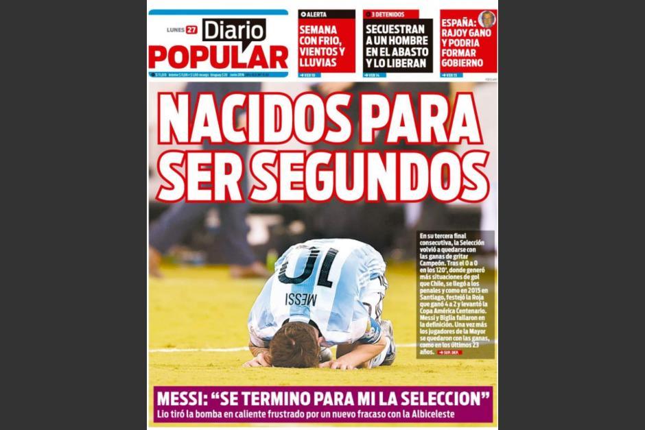 """""""Nacidos para ser segundos"""", Diario Popular"""