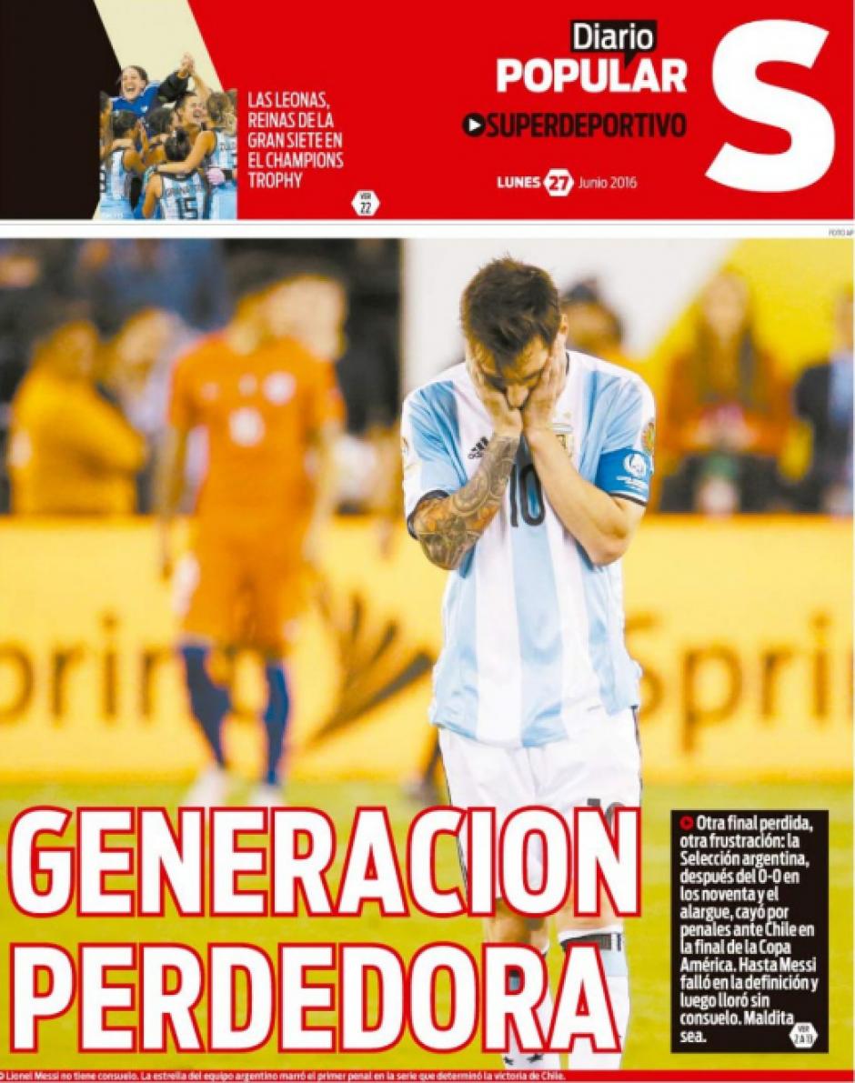 """""""Generación Perdedora"""", Diario Popular Deportes"""