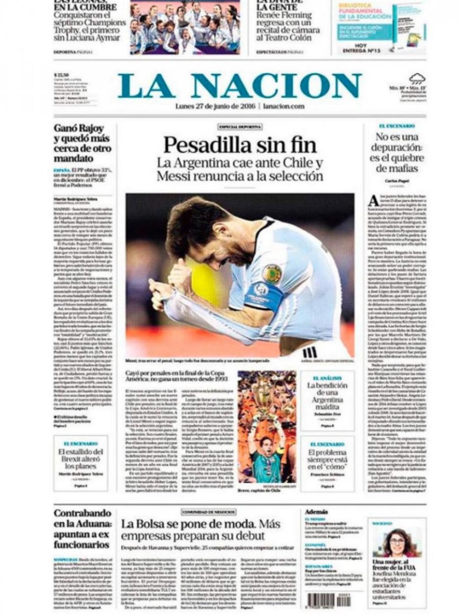 """""""Pesadilla sin fin"""", La Nación"""