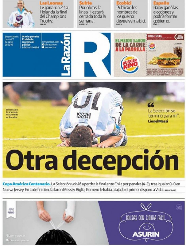 """""""Otra decepción"""", La Razón"""