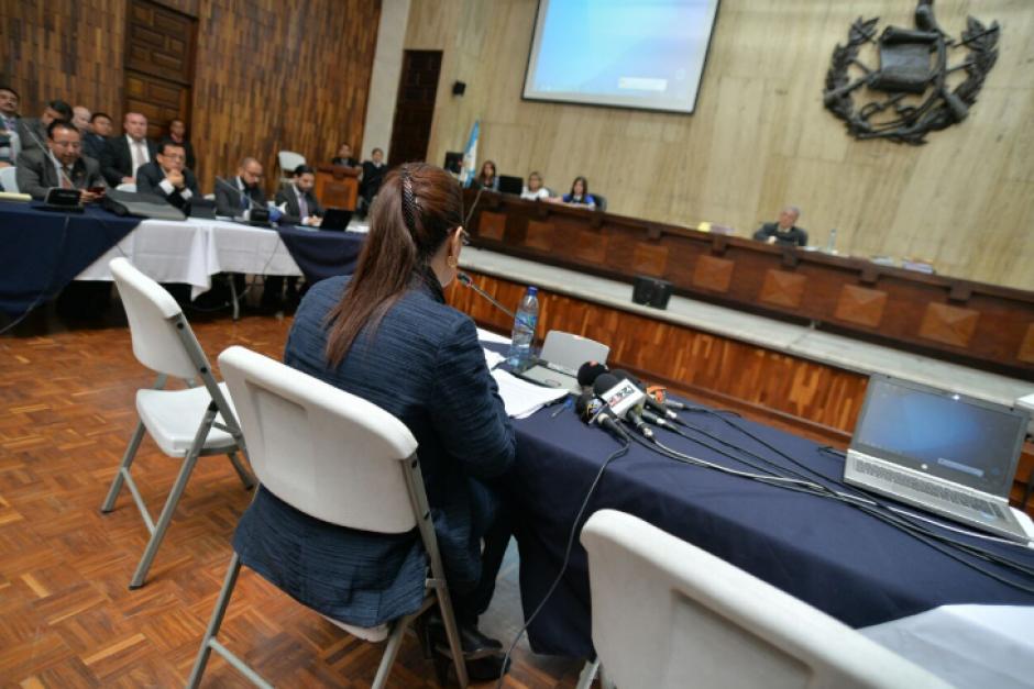 La exvicepresidenta Roxana Baldetti también declaró en el caso de Cooptación del Estado. (Foto: Wilder López/Soy502)