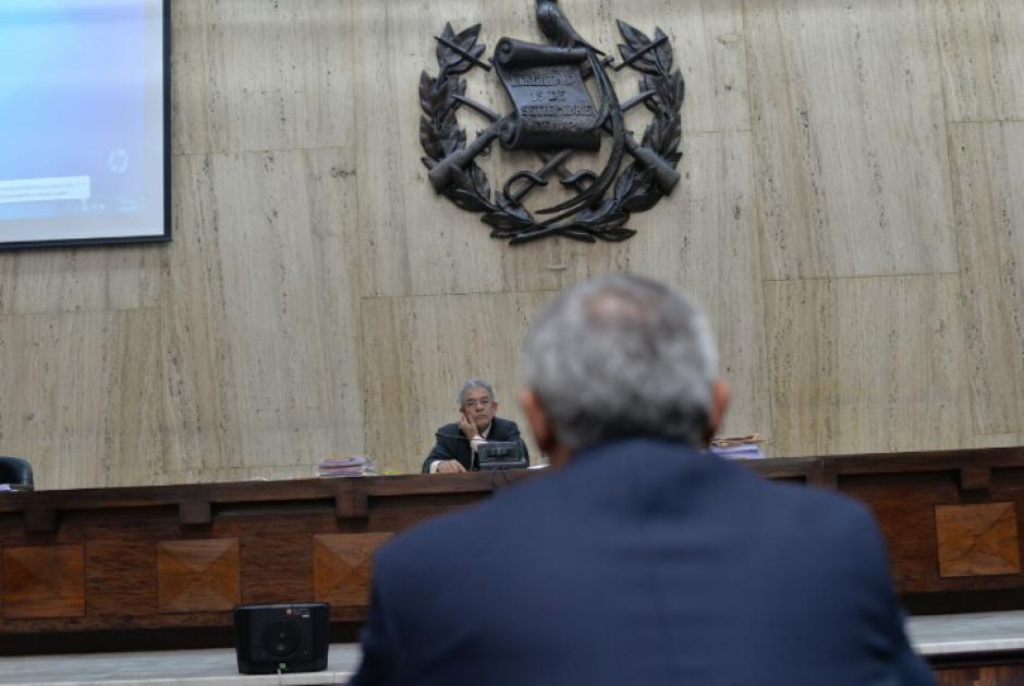 En la novena audiencia, el expresidente Otto Pérez rindió su declaración. (Foto: Wilder López/Soy502)