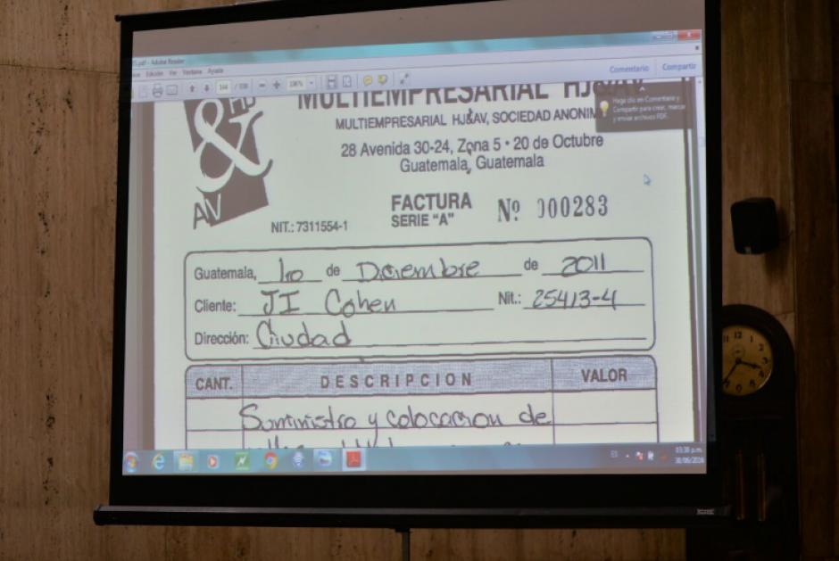 La abogada también intentó demostrar cómo las facturas emitidas con el nombre de Cohen, nunca habrían llegado a sus manos. (Foto: Wilder López/Soy502)