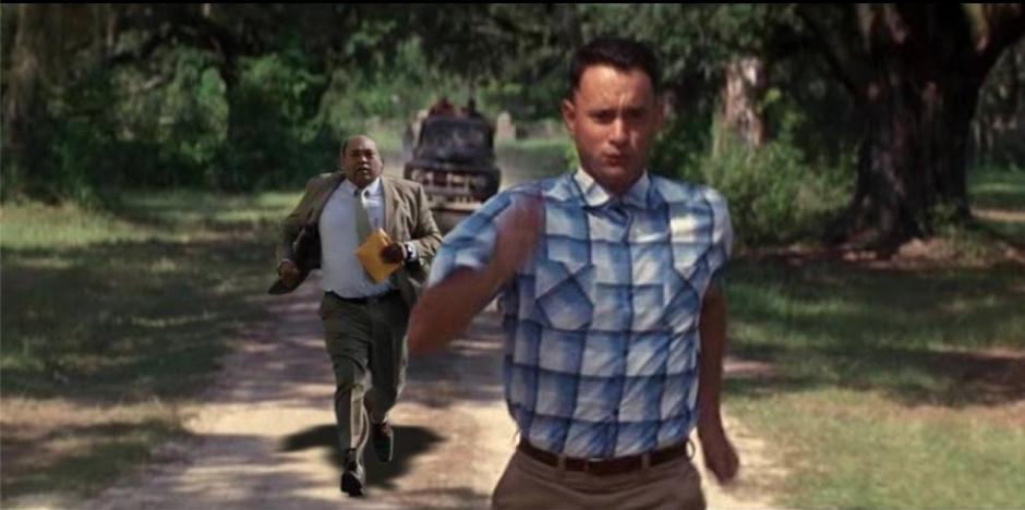 La película de Forrest Gump también sirvió. (Foto: Facebook/Antonio Morataya)