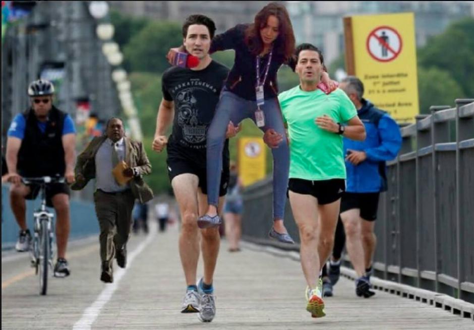 Los memes de Lady Reportera también sirvieron. (Foto: Facebook/Diego López)