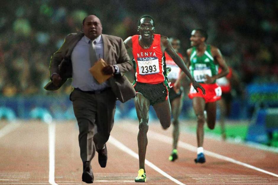 También en competiciones de atletismo. (Foto: Facebook/Eduardo Castro)
