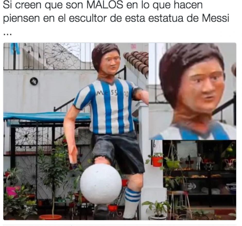 Los memes por la nueva estatua no se hicieron esperar. (Foto: Twitter)