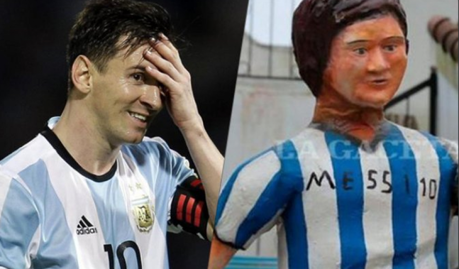 Messi no ha visto su nueva estatua. (Foto: Twitter)
