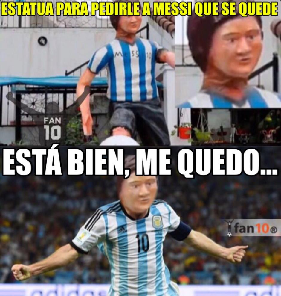 Los usuarios de redes esperan que Messi vuelva a la Selección de su país. (Foto: Twitter)