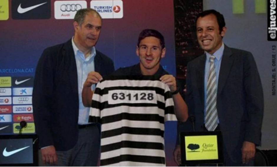 Leo Messi fue condenado a 21 meses de cárcel.  (Foto: Twitter)