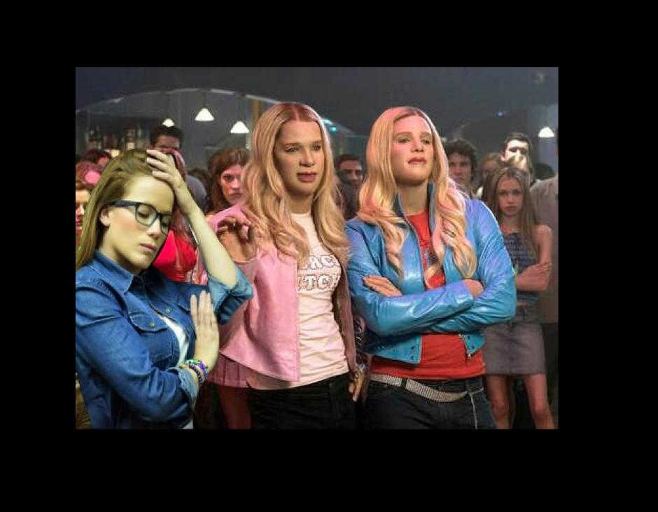 Beltranena y las gemelas de esa famosa cinta. (Foto: Facebook/George López)
