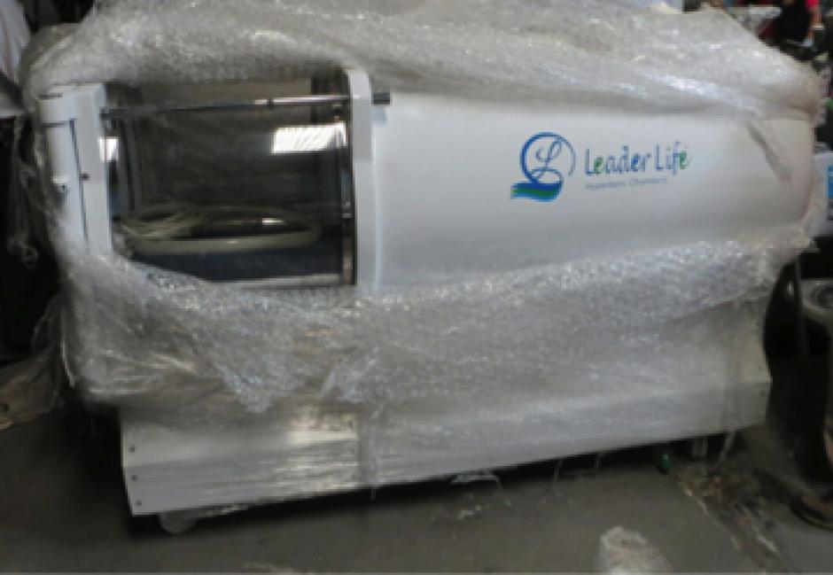 Entre las máquinas embargadas a Baldetti se encuentran una hiperbárica. (Foto: MP)