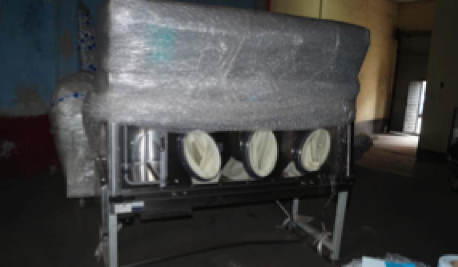 La otra máquina de Baldetti sirve para el estiramiento de piel. (Foto: MP)