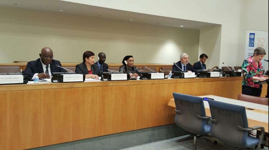 La fiscal Thelma Aldana participó en la presentación del Informe Global del PNUD, sobre temas de Justicia y Derechos Humanos. (Foto: MP)
