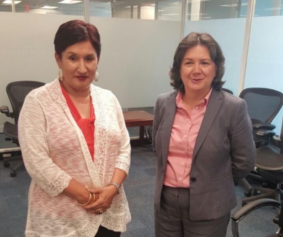 La subsecretaria de la ONU y Directora del PNUD para America Latina, Jessica Faieta, también recibió a la Fiscal General. (Foto: MP)