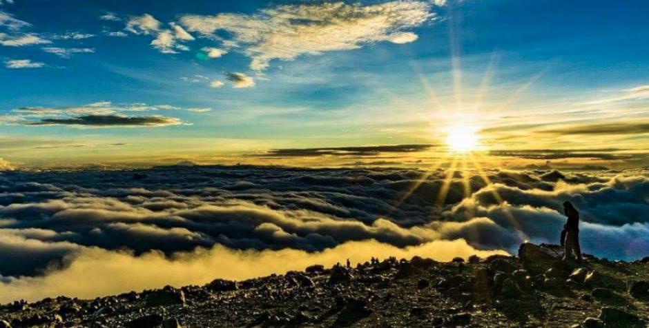 Esta es la vista desde el volcán Tajumulco en San Marcos. (Foto: Facebook/ Guate Tour)