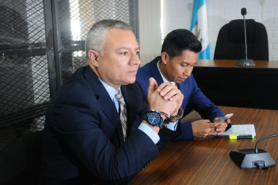 Salvador González, alias Eco, acudió a una audiencia por el juicio de extinción de dominio que se lleva en su contra. (Foto: Alejandro Balán/Soy502)