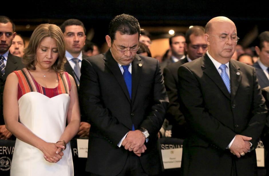 Representantes de la Iglesia Evangélica llegan a Casa Presidencial una vez al mes. (Foto: Presidencia)