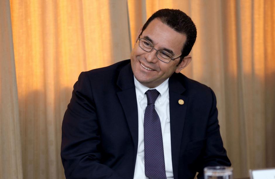 Jimmy Morales recibe muchas visitas en Casa Presidencial. (Foto: Presidencia)