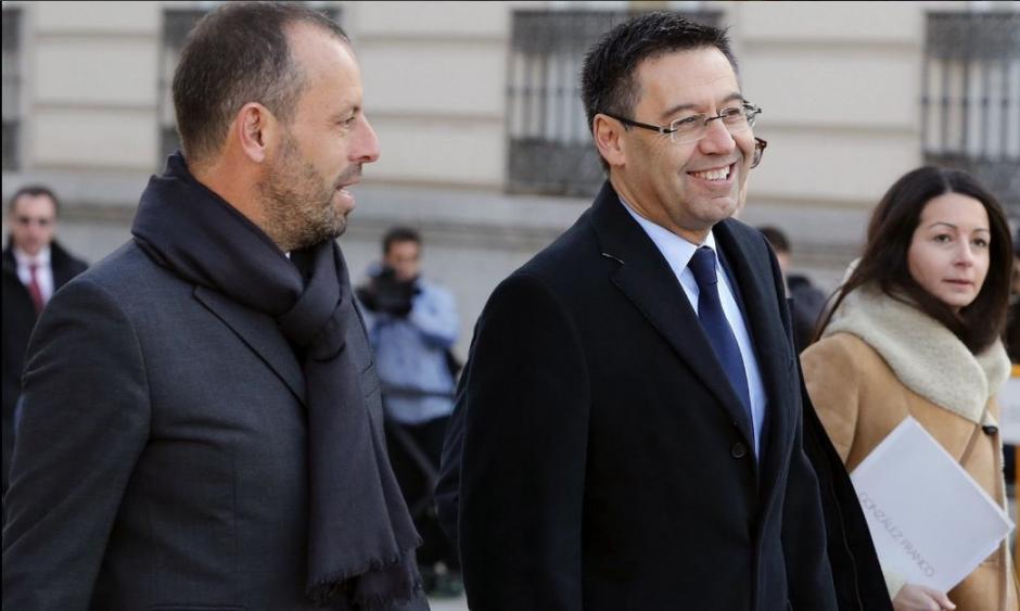 Rosell y Bartomeu, los dos mayores responsables del caso. (Foto: Twitter)