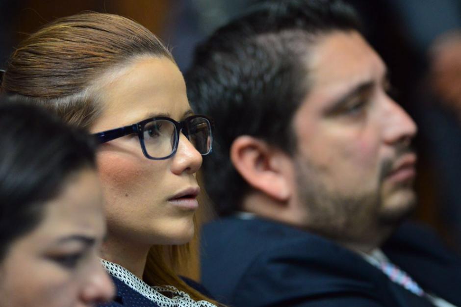 Daniela Beltratena estuvo atenta a la intervención de los abogados. (Foto: Jesús Alfonso/Soy502)