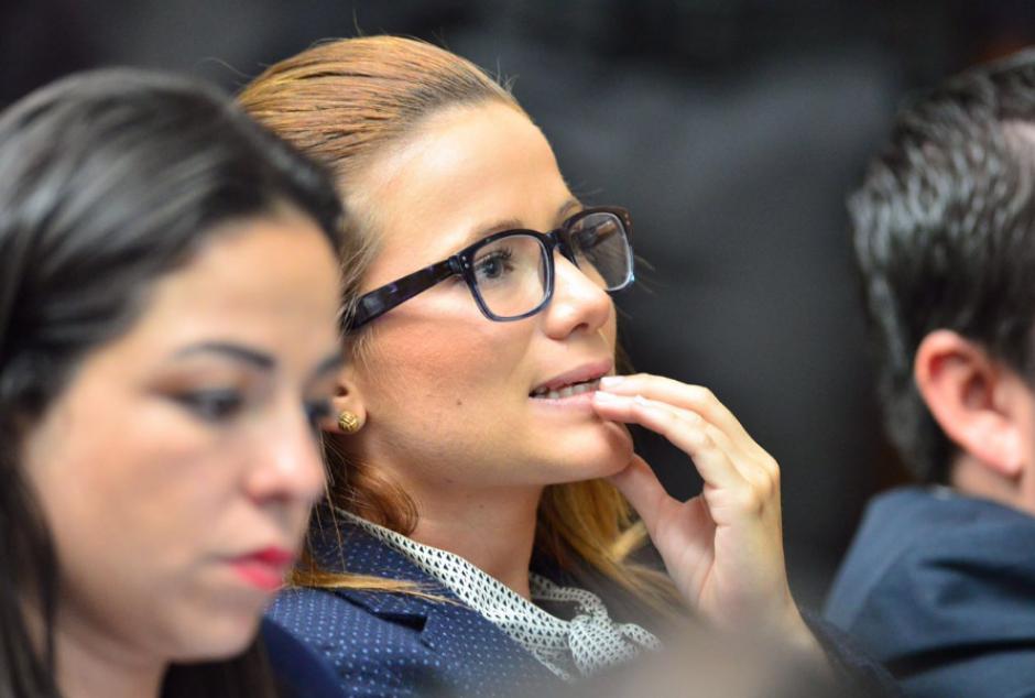 Daniela Beltratena, por momentos, presentó señales de nerviosismo. (Foto: Jesús Alfonso/Soy502)
