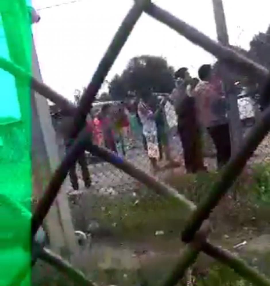 El clip fue captado en la Granja Penal Cantel, en Quetzaltenango. (Foto: Captura de video de @ErickColop)