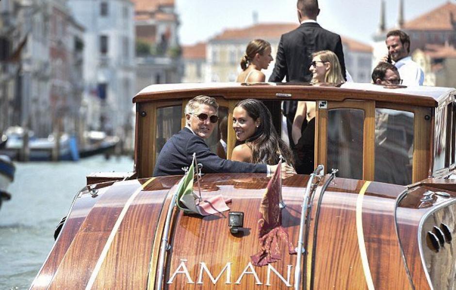Schweinsteiger e Ivanovic se casaron en Venecia. (Twitter)
