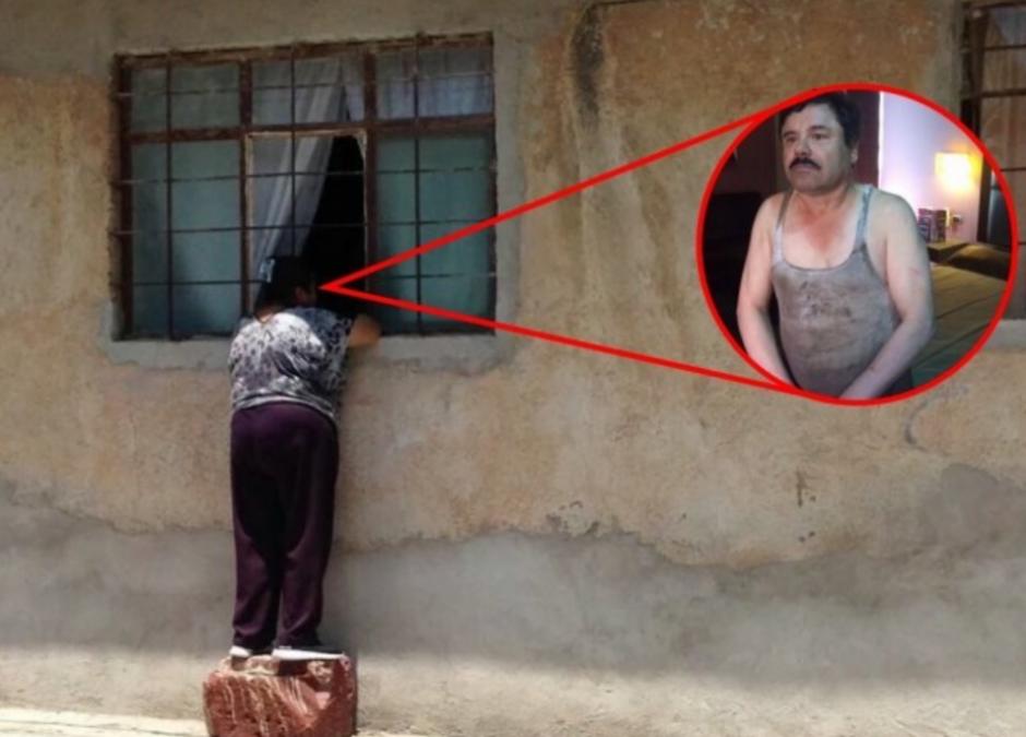 """Hasta con Joaquín """"El Chapo"""" Guzmán fue colocada la imagen. (Foto: Twitter/buzzfeed.com)"""