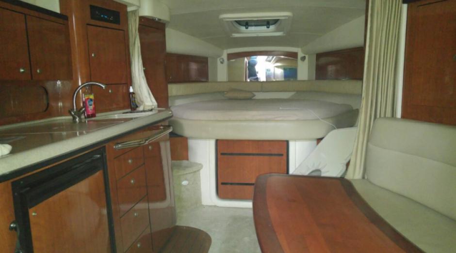 Este es el interior de uno de los vehículos acuáticos embargados. (Foto: MP)