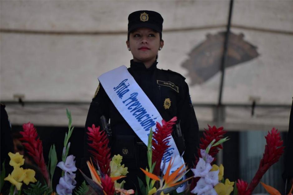 Cada sección elige a una representante que los represente en la elección de Reina de la PNC. (Foto: Wilder López/Soy502)