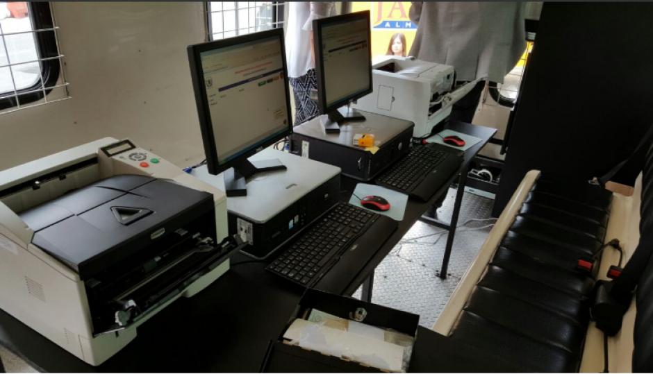 La unidad está equipada para la emisión de antecedentes penales. (Foto: OJ)