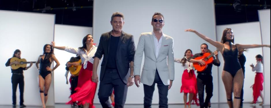 """Alejandro Sanz y Marc Anthony publicaron el dueto titulado """"Deja que te bese"""". (Captura de pantalla: AlejandroSanzVEVO/ YouTube)"""