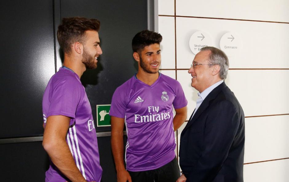 El club aprovechó para anunciar la renovación del joven Asenso. (Foto: RealMadrid.com)