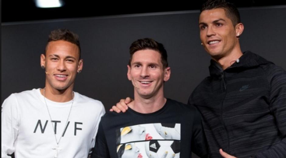 Los tres últimos finalistas, cuando ganó Messi su quinto. (Foto: Zonacero.com)