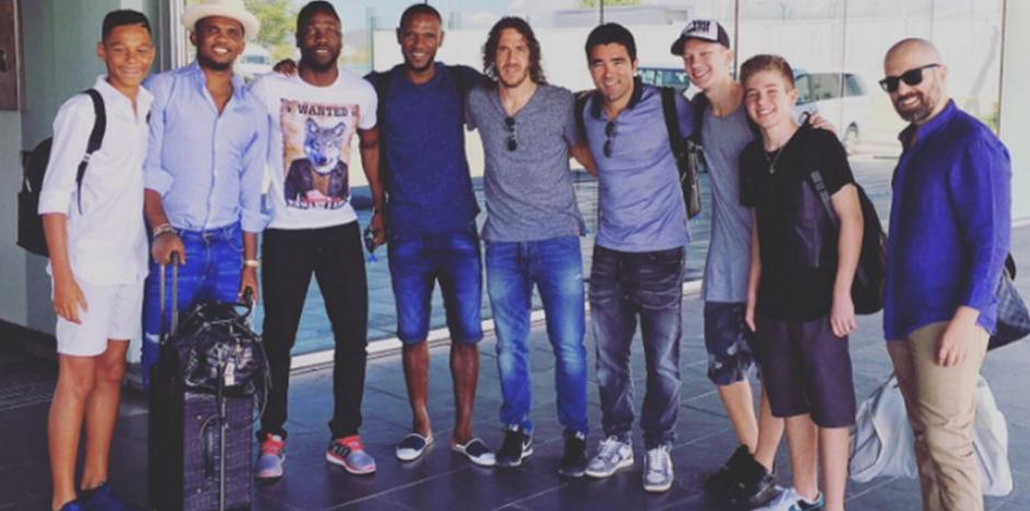 Eto'o, Puyol y Deco, entre otros, son los exjugadores del Barça que no está en Turquía. (Foto: Twitter)
