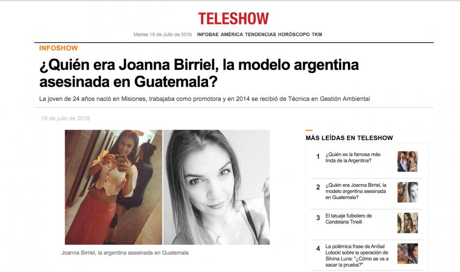 Aún se desconoce qué sucederá con los restos mortales de la modelo argentina.