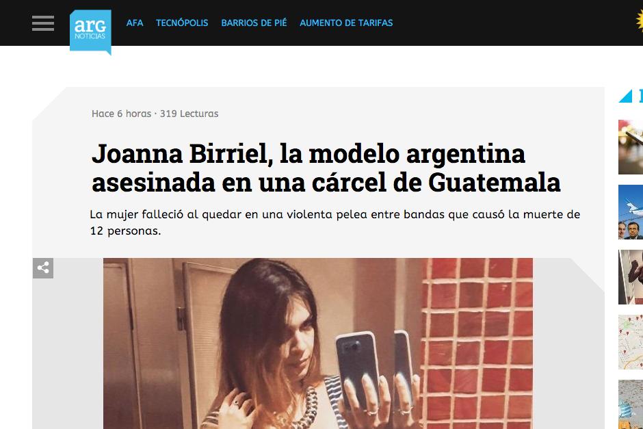 Los medios mostraron varias fotografías de la modelo que publicaba en sus redes sociales.