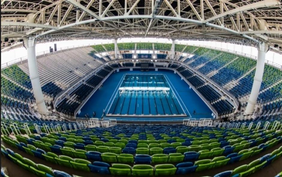 Imagen interna del Estadio Acuático Olímpico, donde estarán Martínez y Gruest (Foto: Rio2016.com)
