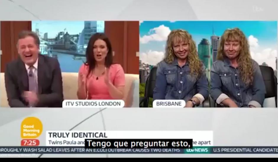 Las australianas fueron entrevistadas por un programa británico. (Imagen: Captura de pantalla)