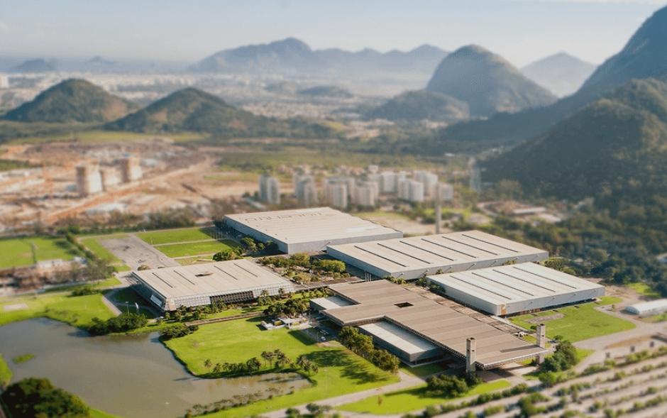 Vista aérea de los pabellones de Riocentro, donde Cordón competirá en Bádminton (Foto: Rio2016.com)