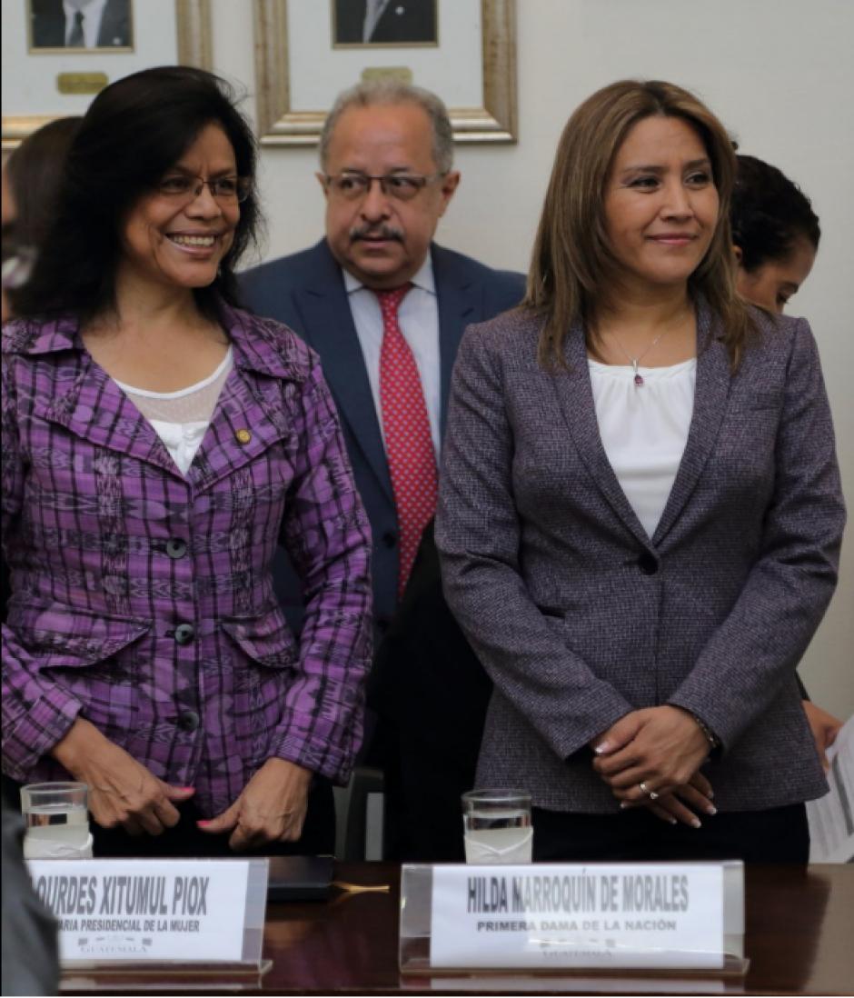 Xitumul fue fotografiada junto a la primera dama en una actividad de la Secretaría Presidencial de la Mujer a principios de este mes. (Foto: Twitter, Seprem)
