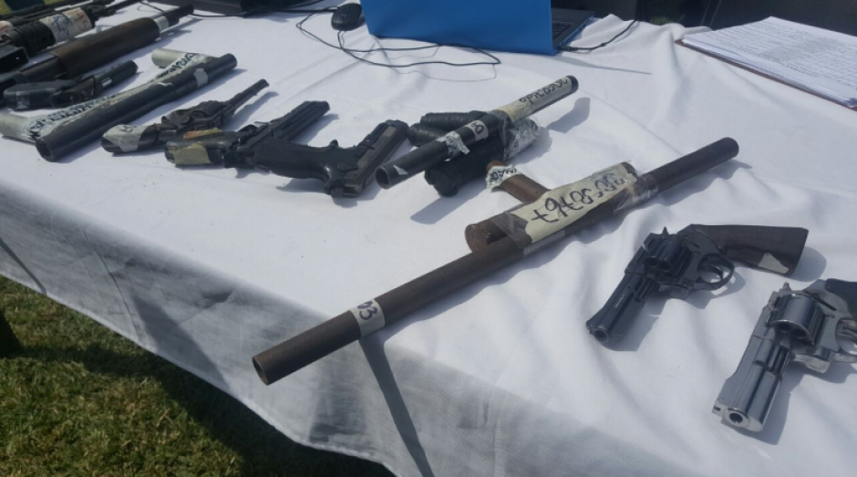 Un total de 5,419 armas de fuego fueron destruidas este 21 de julio. (Foto: OJ)