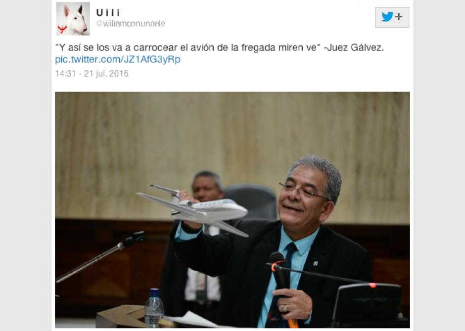En Twitter también respondieron ante la tendencia del juez Gálvez. (Imagen: Twitter)
