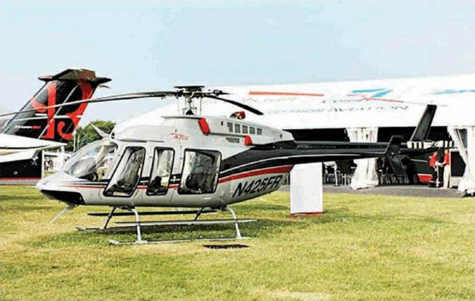 El helicóptero que se compró a través de La Cooperacha. Esta es la imagen ilustrativa que usó la CICIG. (Foto: CICIG)