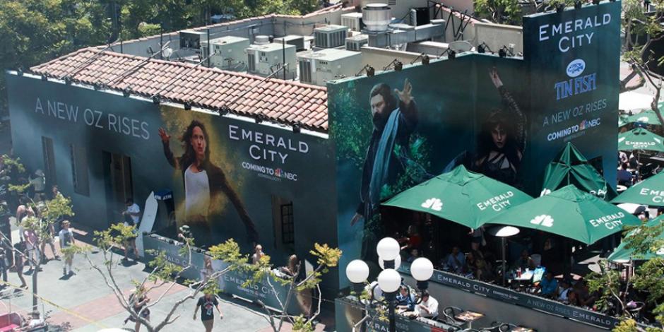 NBC montó un evento para explicar sobre su nueva serie. (Foto: @NBCEmeraldCity)
