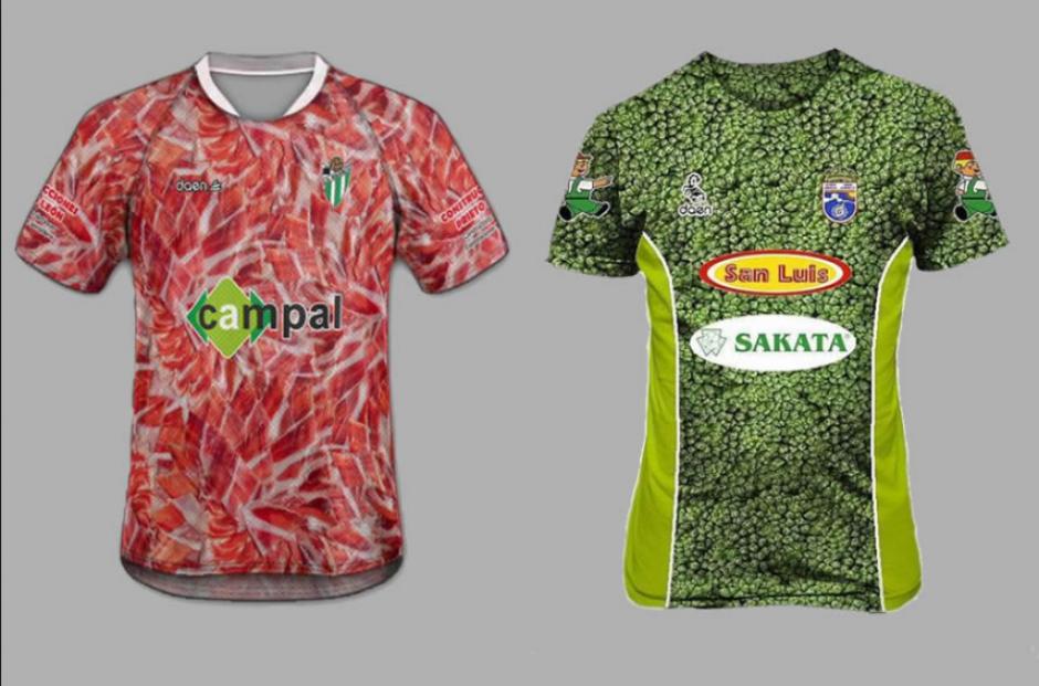 Los uniformes de jamón y brócoli del Guijuelo y la Hoya Lorca (Clarín)