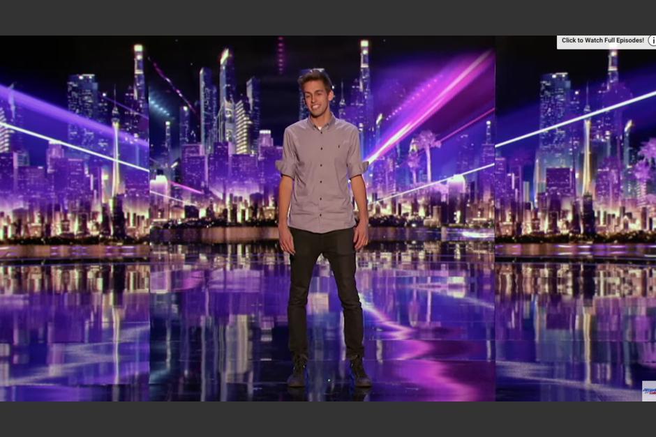 Blake Vogt es el nombre del muchacho que llegó para sorprender a los jueces de America's Got Talent. (Captura Youtube)