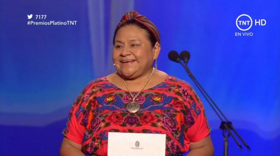 La premio Nobel de la Paz entregó un premio. (Foto: @PremioPlatino)
